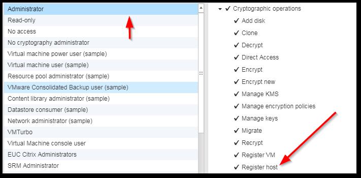 ESXi Host Encryption: Register Host