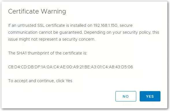 vCenter Server 6.7 : Certificate