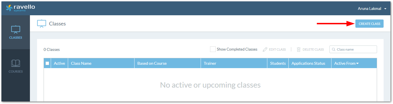 Oracle Ravello As A Training Platform : Create Class