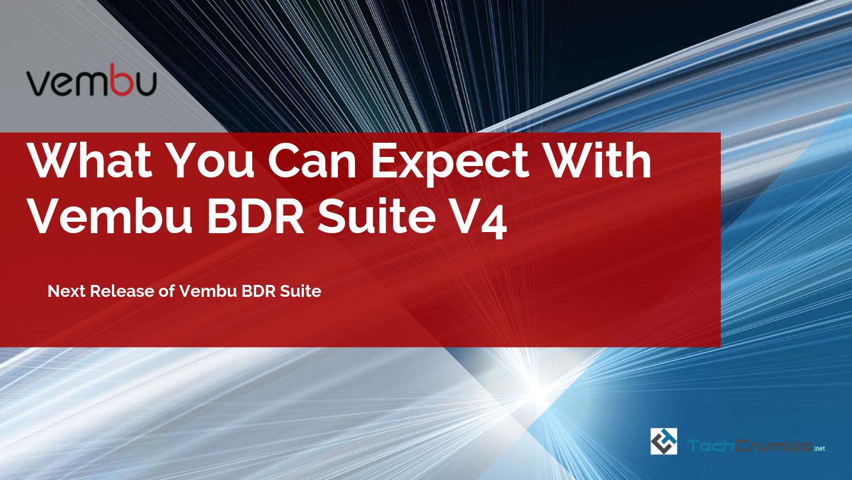 Vembu BDR Suite V4
