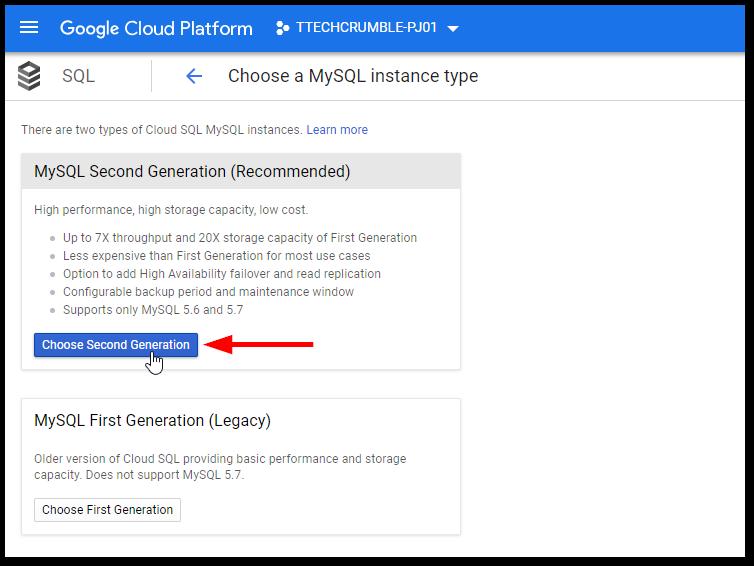 GCP MySQL and PostgreSQL High Availability : Choose Version