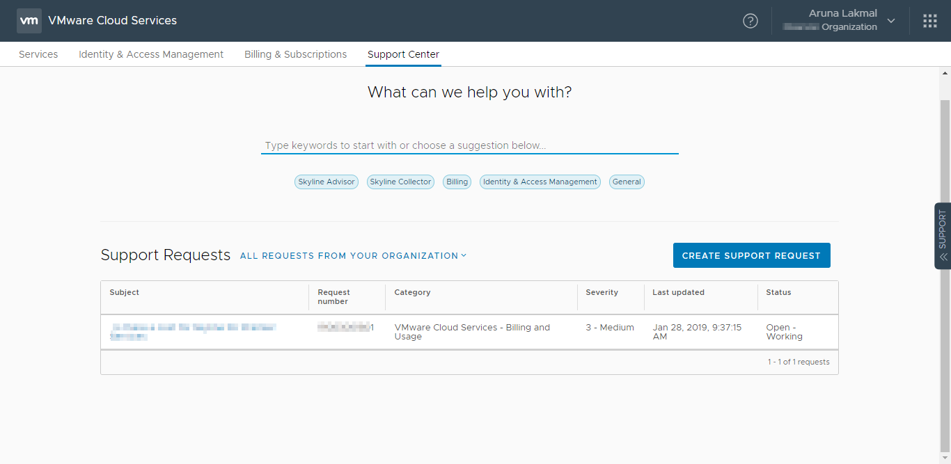 How To Create A Registration Token For VMware Skyline Collector In VMware Cloud Services