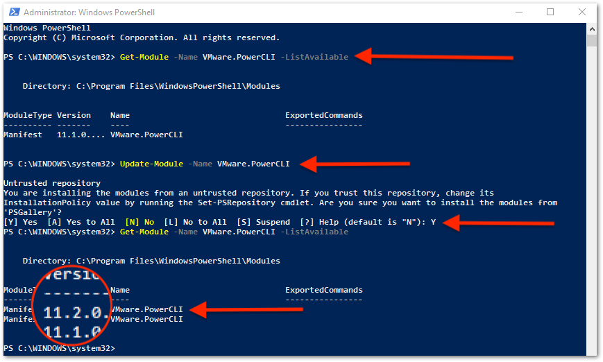 PowerCLI 11.2 Released : Update modules