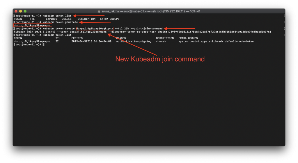 Kubernetes Node Management : New token with a join command