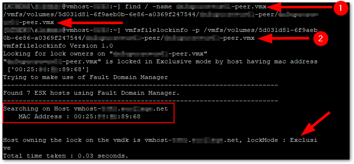 VMware Virtual Machine File Locks identify owner
