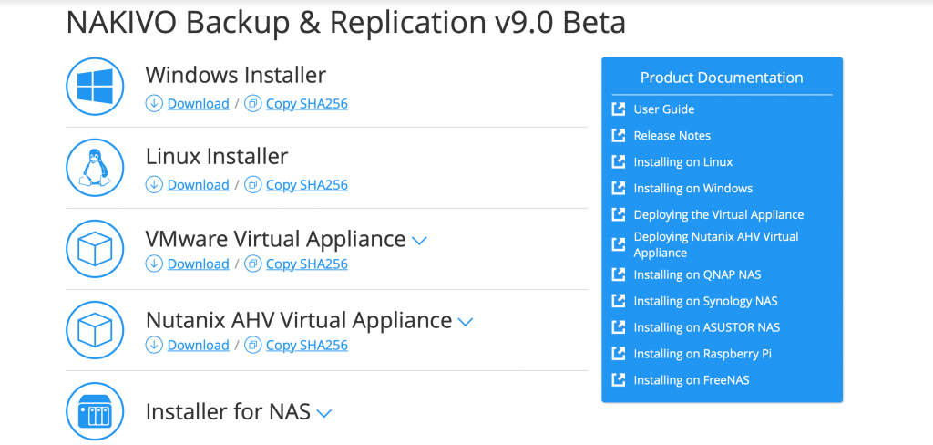 NAKIVO Backup And Replication v9.0 Beta Downloads