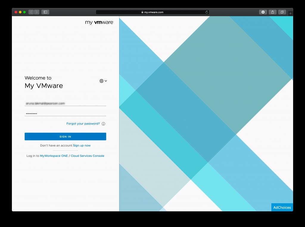 VMware License Key Tracker My VMware Account