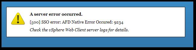 Error Occurred While Starting Service: FD NATIVE ERROR