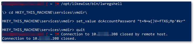 Error Occurred While Starting Service: likewiseregshell