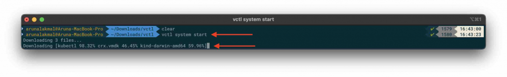 VMware Fusion and Kubernetes vctl start