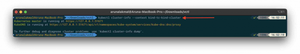 VMware Fusion and Kubernetes cluster info