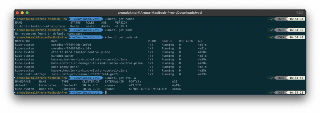 VMware Fusion and Kubernetes kubectl commands