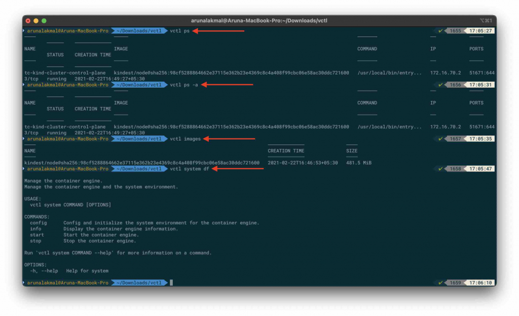 VMware Fusion and Kubernetes docker commands