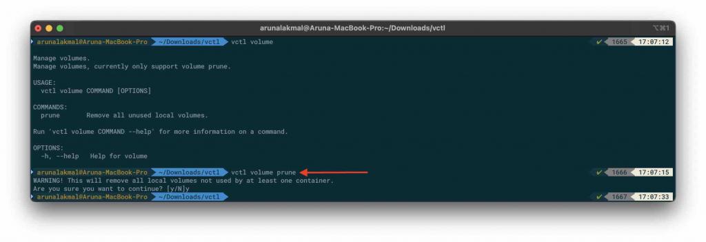VMware Fusion and Kubernetes volume prune